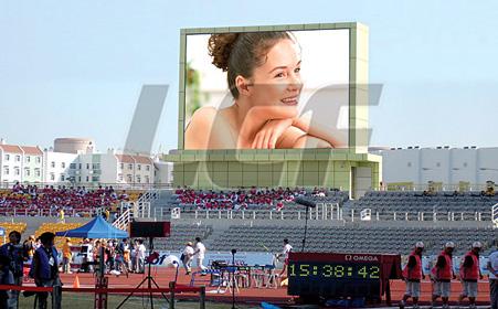 意大利体育赛事电视墙P20户外全彩LED显示屏