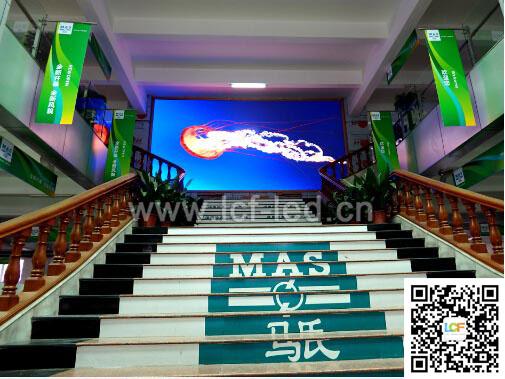 马氏国际木工机械展示中心P5室内LED全彩千赢国际官网