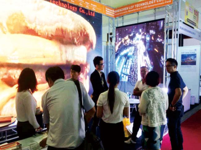 马来西亚国际广告及LED展联诚发展会现场