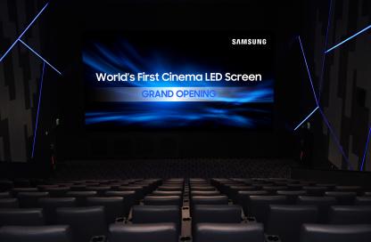 七月,三星将这款产品真正入驻到了电影院,播放屏幕将不再需要接收投影