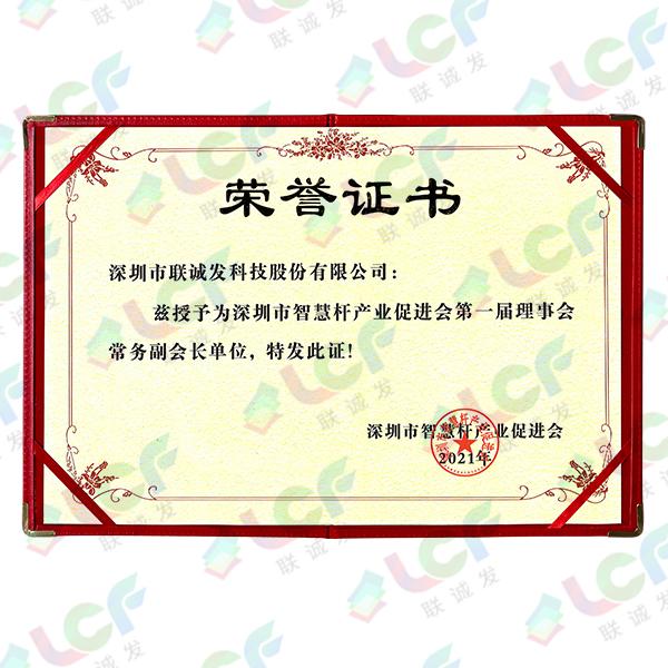 智慧杆促进会常务副会长证书